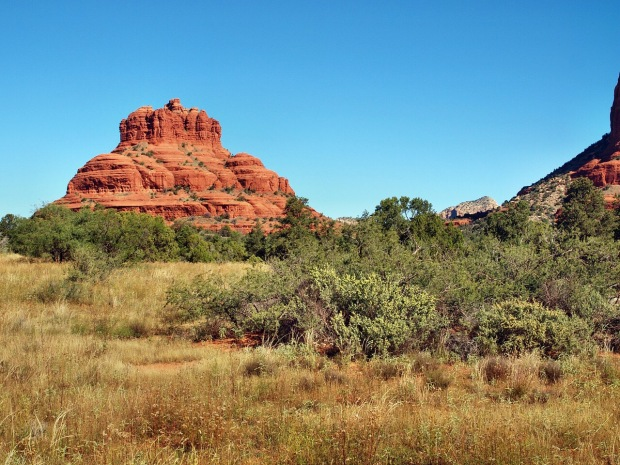 A photo of the famous Bell Rock, seen on the drive in from 89A