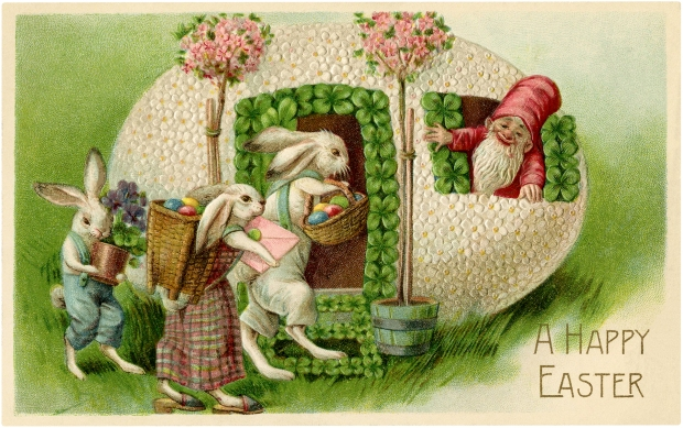 Vintage-Easter-Bunnies-Gnome-Fairy