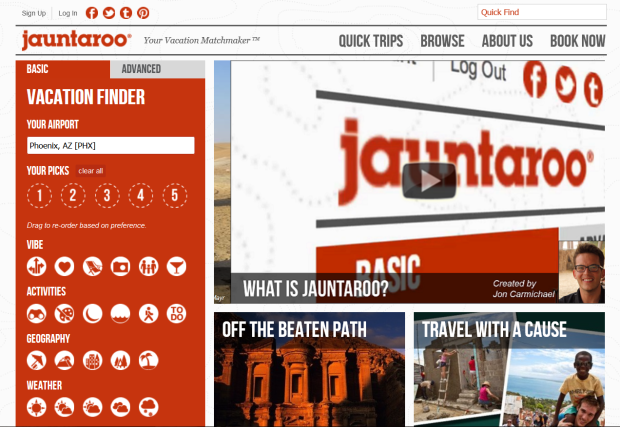 jauntaroo homepage